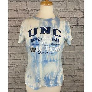 UNC Tarheels Custom Bleach / Reverse Tie Dye Tee